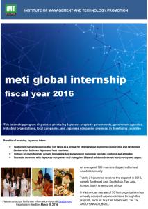 METI Internship Program in Vietnam