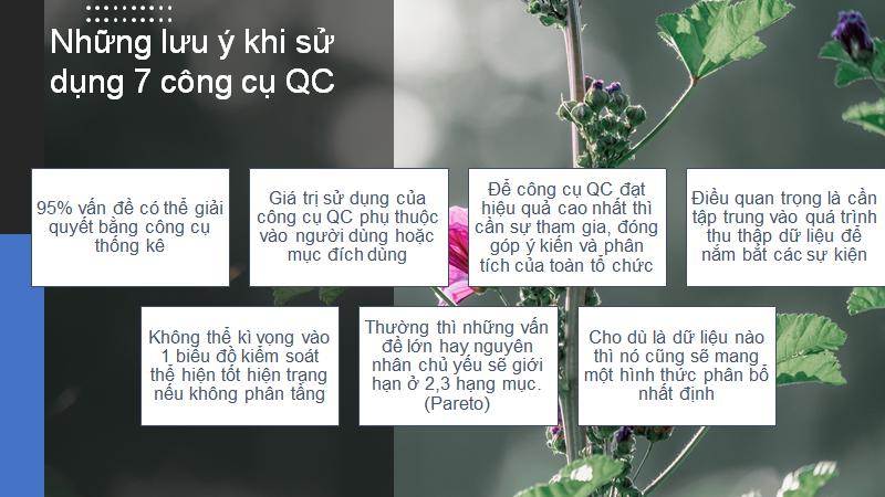 Những lưu ý khi sử dụng 7 công cụ QC